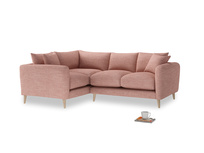 Large Left Hand Squishmeister Corner Sofa in Blossom Clever Laundered Linen