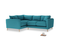 Large Left Hand Squishmeister Corner Sofa in Dragonfly Clever Linen