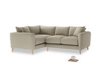 Large Left Hand Squishmeister Corner Sofa in Jute vintage linen