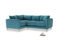 Large Left Hand Squishmeister Corner Sofa in Lido Brushed Cotton
