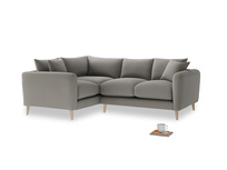 Large Left Hand Squishmeister Corner Sofa in Monsoon grey clever cotton