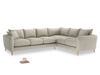 Xl Right Hand Squishmeister Corner Sofa in Thatch house fabric