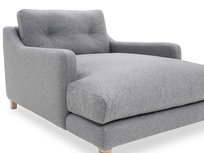 Slim Jim Love Seat Chaise Side detail