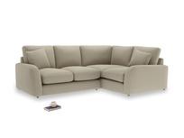 Large Left Hand Easy Squeeze Corner Sofa in Jute vintage linen