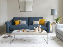 Bumpster comfy curved arm sofa