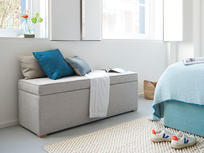 Eton Mess bedroom storage ottoman