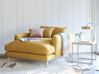 Squishmeister modern deep love seat chaise