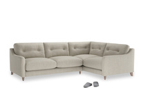 Large Right Hand Slim Jim Corner Sofa in Thatch house fabric