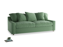 Large Cloud Sofa in Thyme Green Vintage Linen