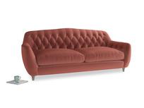 Large Butterbump Sofa in Dusty Cinnamon Clever Velvet