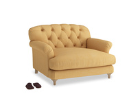 Truffle Love seat in Honeycomb Clever Softie