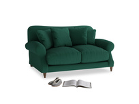 Small Crumpet Sofa in Cypress Green Vintage Linen