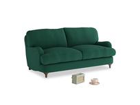 Small Jonesy Sofa in Cypress Green Vintage Linen