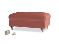 Rectangle Jammy Dodger Footstool in Dusty Cinnamon Clever Velvet