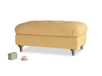 Rectangle Jammy Dodger Footstool in Honeycomb Clever Softie
