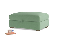 Bumper Storage Footstool in Thyme Green Vintage Linen