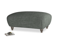 Rectangle Homebody Footstool in Pencil Grey Clever Laundered Linen