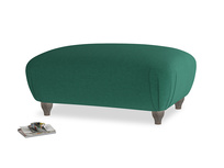 Rectangle Homebody Footstool in Cypress Green Vintage Linen