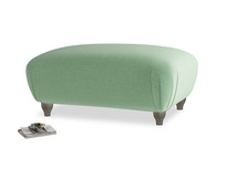 Rectangle Homebody Footstool in Thyme Green Vintage Linen