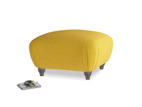 Small square footstool Homebody Footstool in Yellow Ochre Vintage Linen