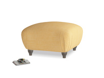 Small Square Homebody Footstool in Honeycomb Clever Softie