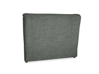 Double Hugger Headboard in Pencil Grey Clever Laundered Linen