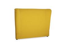 Double Hugger Headboard in Yellow Ochre Vintage Linen