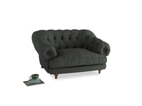 Bagsie Love Seat in Pencil Grey Clever Laundered Linen