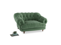 Bagsie Love Seat in Thyme Green Vintage Linen
