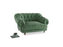 Bagsie Love Seat in Thyme Green Vintage Linen