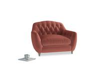 Love Seat Butterbump Love Seat in Dusty Cinnamon Clever Velvet