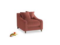 Oscar Armchair in Dusty Cinnamon Clever Velvet