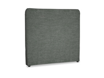 Double Ruffle Headboard in Pencil Grey Clever Laundered Linen