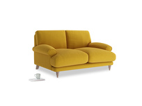 Small Slowcoach Sofa in Yellow Ochre Vintage Linen