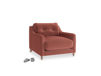 Slim Jim Armchair in Dusty Cinnamon Clever Velvet