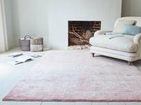 Habib wool hand woven rug in pink marl