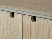 Tall Tim Slimline Shelves Cupboard Door Detail