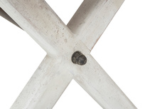 Feast Extendable Handmade Farmhouse Kitchen Table Cross Leg