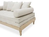 Parlay oak daybed side bolster detail