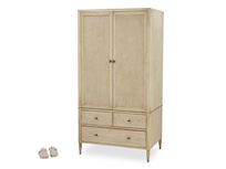 Valentine Solid Oak Wardrobe with Drawers