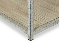 Side Tim Wood and Metal Console Sideboard Base Detail