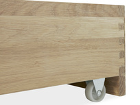 Dinkum in Washed Oak Trundle Under Bed Drawer Wheel detail