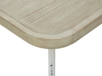 Cuppa Wooden Lipped Side Table Top corner detail