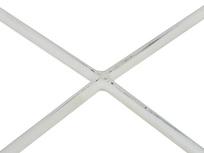 Cuppa Wooden Lipped Side Table cross leg detail