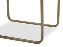 Shimmy Brass and Glass Table Leg Detail
