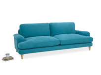 Cinema Deep Upholstered Square Arm Sofa Front