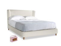 Kingsize Hugger Bed in Chalky White Clever Softie