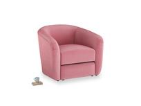 Tootsie Armchair in Blushed pink vintage velvet