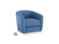 Tootsie Armchair in English blue Brushed Cotton