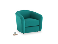 Tootsie Armchair in Indian green Brushed Cotton